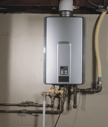 tankless water heater installed by professional plumber