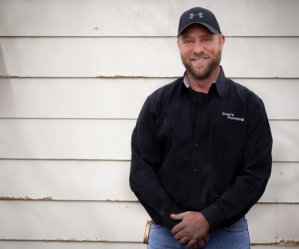 Coles Plumbing professional Amarillo plumber smiling